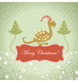 Cute dragon for greeting card vector