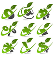 Swoosh green symbols set5 vector