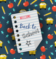 Back to school background and education icons vector