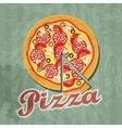 Retro pizza background vector