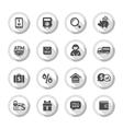 Shopping flat icons set 04 vector