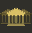 Greek temple front vector