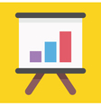 Business growing graph presentation icon vector