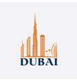 Dubai city skyline design template vector