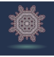 Mandala motif with copyspace and shadow in the vector