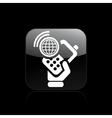 Web phone icon vector