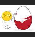 Chicken and easter egg vector