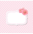 Pink rose label vector