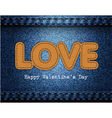 Love valentine jeans background vector