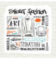 Street fashion set vector