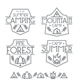 Camping badges and icons vector