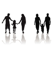 Family child silhouette vector