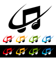 Swoosh music note icons vector