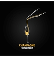 Champagne glass bottle design background vector