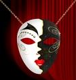 Blackwhite carnival mask vector