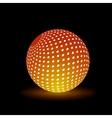 Digital light ball vector