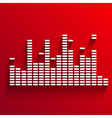 White digital equalizer background on red vector