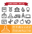 Line icons set 29 vector