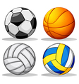 Different balls used in sports vector