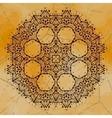 Grungy indian mandala henna colored tribal design vector