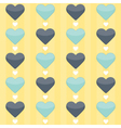 Seamless pattern with blue and mint hearts on a vector