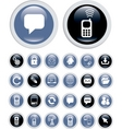 Business technology icons vector