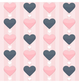 Seamless pattern with blue and pink hearts on a vector