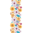 Colorful oriental flowers vertical seamless vector