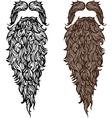 Beard and mustache vector