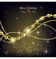 Elegant christmas background with golden garland vector