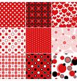 Set seamless vintage patterns vector