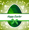 Easter polygonal green eggs greeting card vector