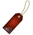 Christmas nutcracker cartoon gift tag vector
