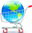 Global shopping concept vector