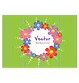 Floral background and border vector