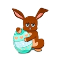 Rabbit with an easter egg vector