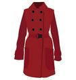 Red coat vector