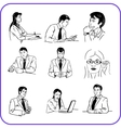 Office workers - business set vector