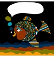 Fish in cartoon style vector