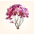 Spring tree of blots background vector
