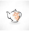 Teapot grunge icon vector