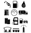 Fuel station icons set vector