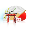 Decorative traditional japanese background vector