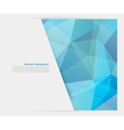 Abstract background polygon blue and card vector