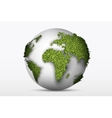 Globe with a green grass vector