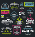 Set of retro vintage badges and label graphics vector