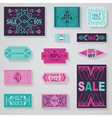 Sale tags and labels - tribal and aztec style vector