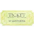Ticket admit one vintage one eps 8 vector