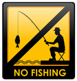No fishing sign vector