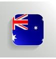 Button - australia flag icon vector